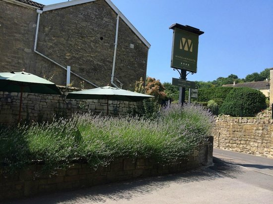 Wheelwrights Arms : view from main door to lavender garden
