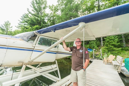 Lauer Aviation - Private Tours: Bill and his plane ©Suzanne Clements, all rights reserved.
