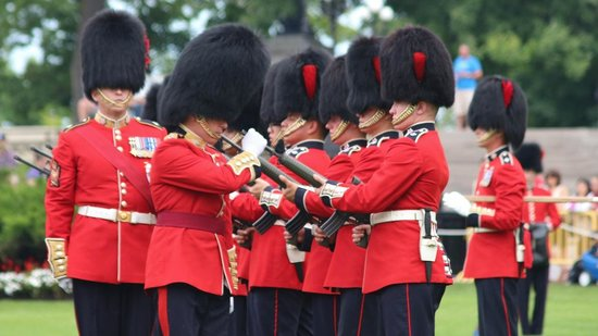 Changing of the Guard: Changing of Guard - arms inspection