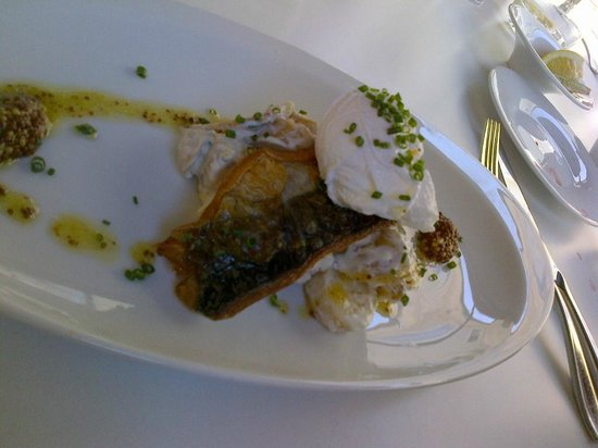 Treadwell: Soem local white fish topped with a poached egg.