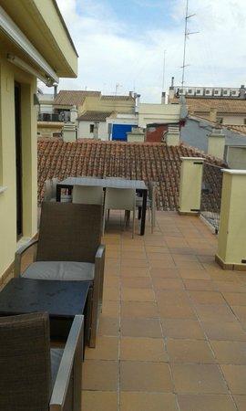 Valenciaflats Catedral: Terraza