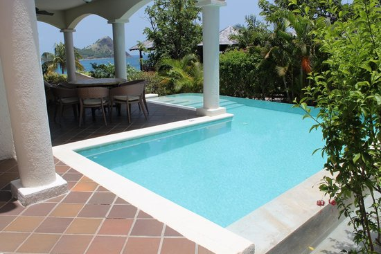 Cap Maison: our private L pool