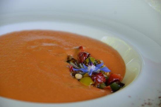 Le Jardin Les Crayeres: Een verrassend heerlijke gazpacho soep