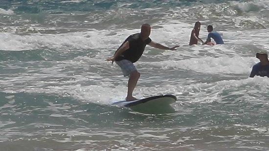 Bob's East Island Surfing Adventures: It was even a great time for their old man!