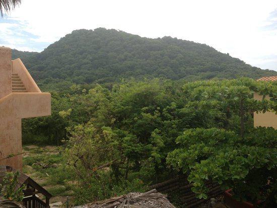 Hills behind Troncones Point Hostel.