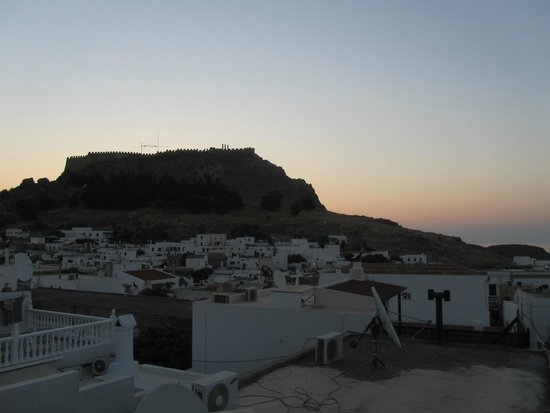 Lindos Boutique Rooms: View from the roof terrace