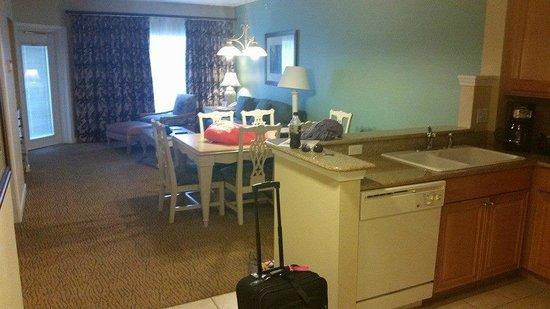 Hilton Grand Vacations at SeaWorld : Living Room