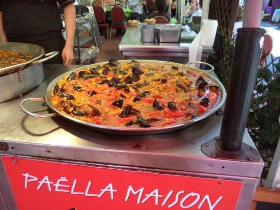 La Bouvine: paella maison