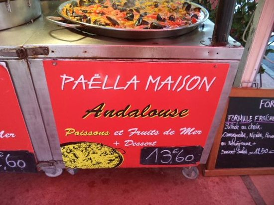 La Bouvine: paella poisson