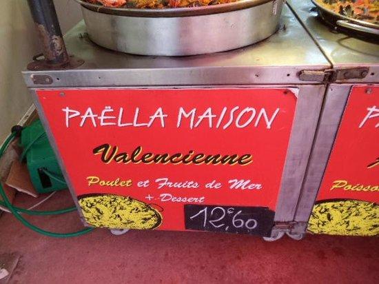 La Bouvine: paella poulet