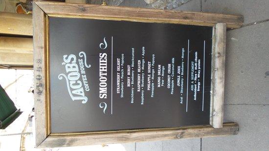 Jacob's Coffee House: Smoothies