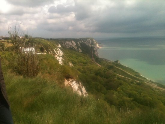Evan Evans Tours: A view of the cliffs from the edge of the WWII war memorial
