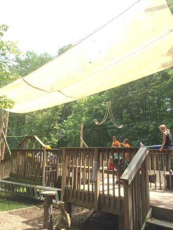 Hocking Hills Canopy Tours : Landing for the Super Zip