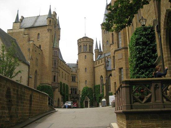 Burg Hohenzollern - inside the castle courtyard