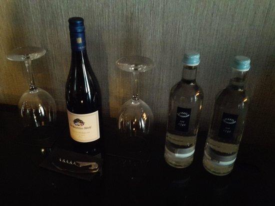 Hyatt Regency Düsseldorf: Wine and water