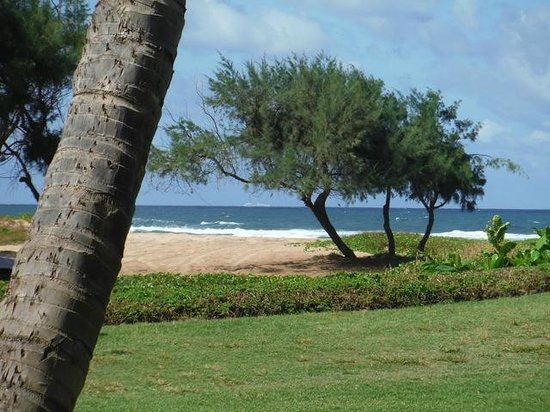 Kauai Beach Villas: Lanai view from building F