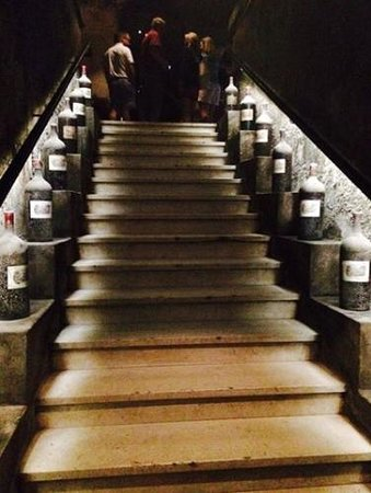 BD Tours: Wine Tours In Bordeaux : Stairway in the caves of Lafite Rothschild...
