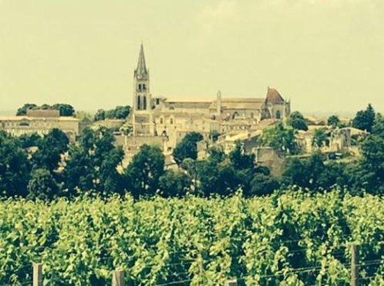 BD Tours: Wine Tours In Bordeaux: St Émilion as seen from Château Pavie Macquin...