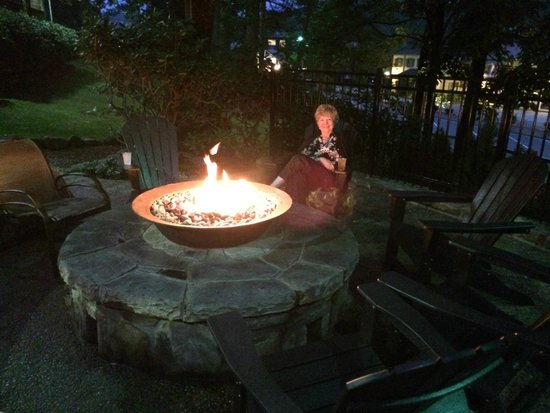 200 Main: Enjoying the cool mountain area around the fire pit