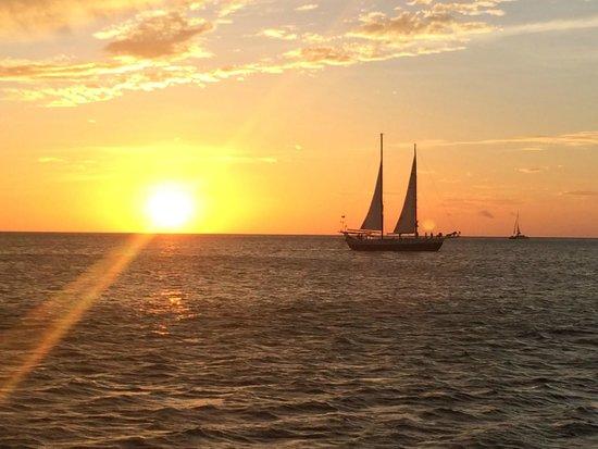 The Seabird Sailing Catamaran Tours: Sun set on the Seabird