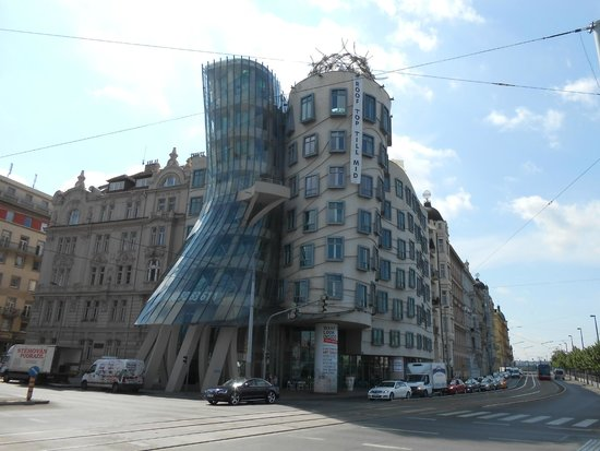 The Dancing House, designed by Frank Gehry, Prague