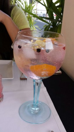 Blue Note Lanzarote: Wonderful and huge gin and tonic