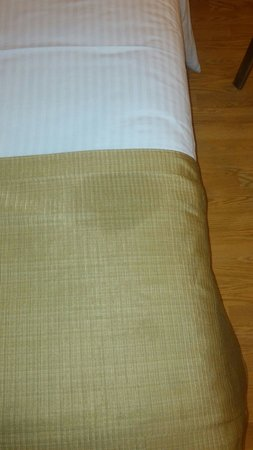 Lemon Tree Hotel, Chandigarh: Soiled bed linen