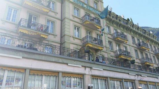 Hotel Central Continental: sacada com vista para jangfrau
