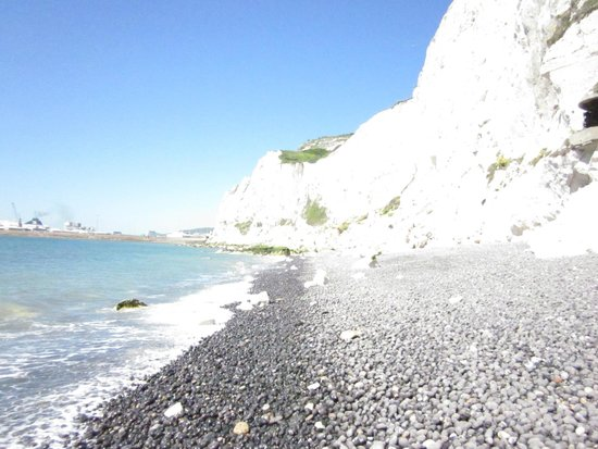 White Cliffs of Dover: View from the beach