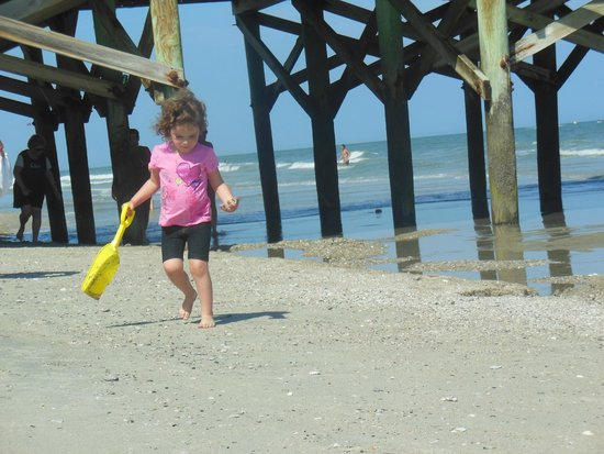 Springmaid Beach Resort & Conference Center: playing on the beach near the pier