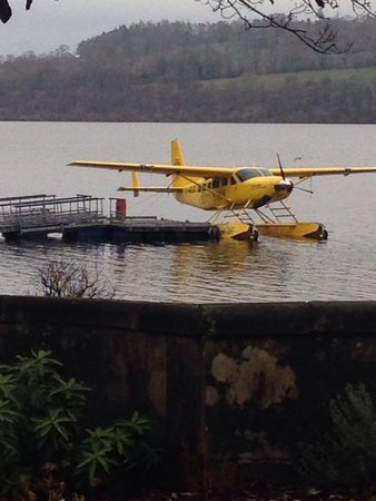 Cameron House on Loch Lomond: Yellow aeroplane