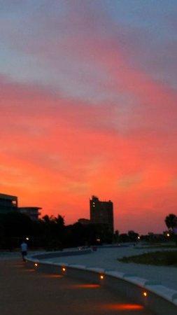 Beachside Resort Motel: The sun coming up at Algiers.