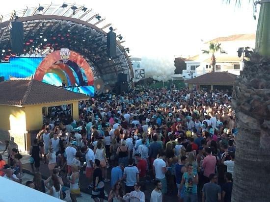 Ushuaia Ibiza Beach Hotel : david guetta dalla stage view