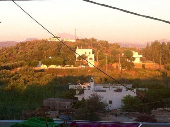 Kokalas Resort Georgioupoli: From the balcony to the left...