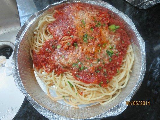 Positano: Spaghetti with Meat Sauce