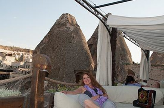 Kelebek Special Cave Hotel : enjoying the roof