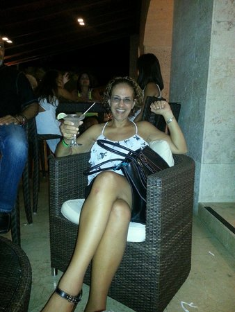 Royalton Punta Cana Resort & Casino: Having a drink outside the Caffee shop