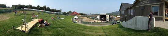 Jay Peak Resort: Panorama of the concert venue next to Stateside Hotel - Jeezum Crow Festival July 2014