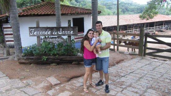 Fazenda do Chocolate: Minha linda família desfrutando do passeio!