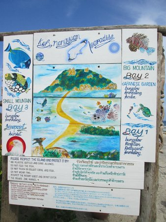 Koh Nang Yuan: sign