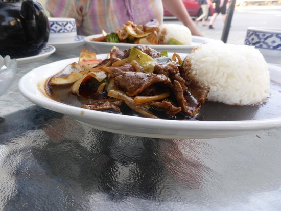 Naree Thai restaurant : Beef with ginger and chilli source