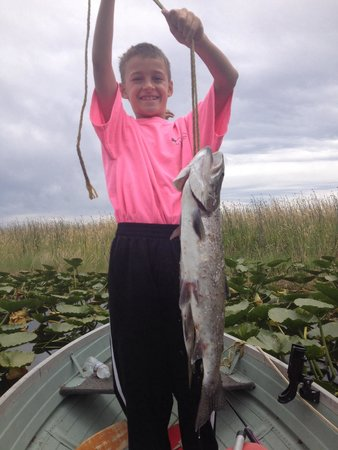Rocky Point Resort: 3 lb trout made his day.