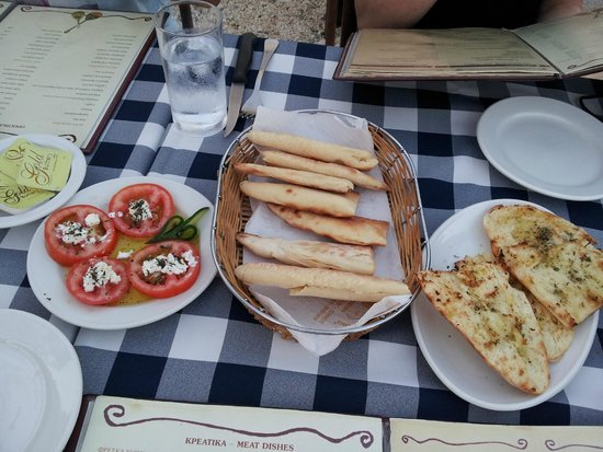 Thanasis Place: Complimentary nibbles