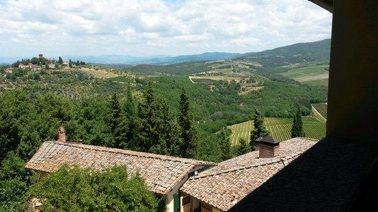 Castello di Verrazzano: view from winery