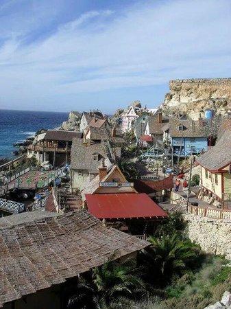 Popeye Village Malta: Scene on entrance