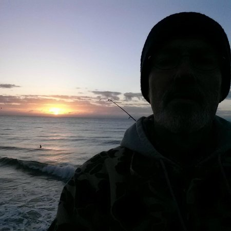 Fishing at sunrise picture of surf city pier surf city for Surf city fishing pier