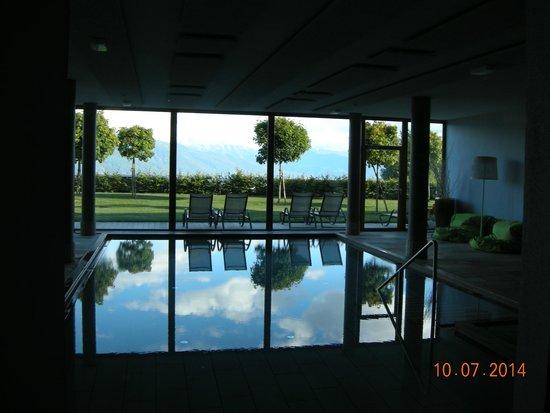 Hotel Gitschberg: piscina con vista