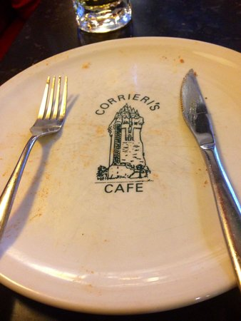 Corrieri's Cafe: Empty plate - a good sign!!