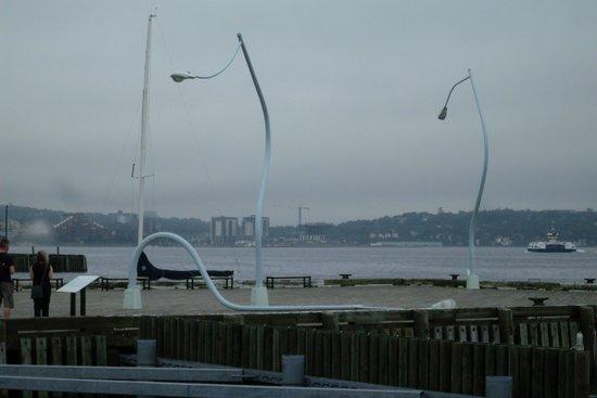 Halifax Waterfront Boardwalk: streetlight sculpture
