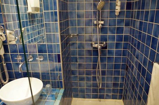 Hotel le Couvent Royal de Saint Maximin: Salle de bain - sans rideau de douche !